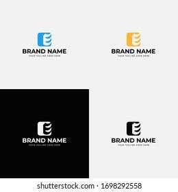 Initial Letter E Logo. E Letter Logo Design Vector . Line Letter Initial E Logo Design Template. Minimal modern abstract flat icon template. App icon e letter logo.