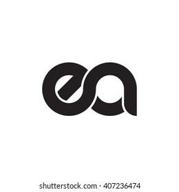 initial letter ea linked circle lowercase monogram logo black