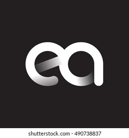 Initial Letter ea Linked Circle Lowercase Logo Black & White