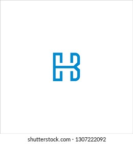 Initial Letter EB or EBH Logo Template Design