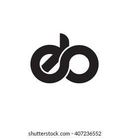 initial letter eb linked circle lowercase monogram logo black