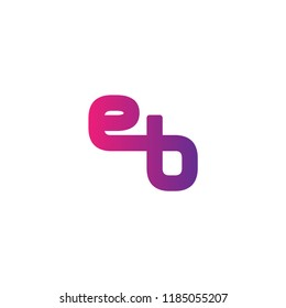 Initial Letter EB Linked, Rounded Logo Design