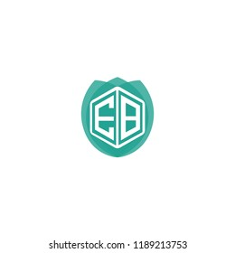 Initial Letter EB Logo Design for Nature, Eco, Leaf, Environment Brand Identity
