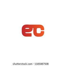 Initial Letter EC Linked, Rounded Logo Design