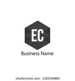 Initial Letter EC Logo Template Design