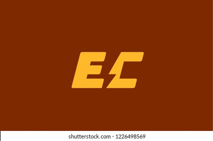 Initial letter EC . Suitable For Infographics , Company Logo, Print, Digital, Icon, Apps, print T-Shirts and Other