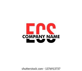 Initial Letter ECS Logo Template Design