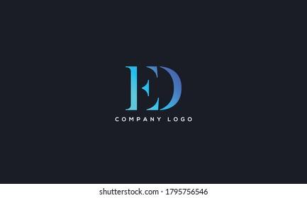 Initial Letter ED or DE Logo Design vector Template. Creative Abstract ED Logo Design Vector Illustration