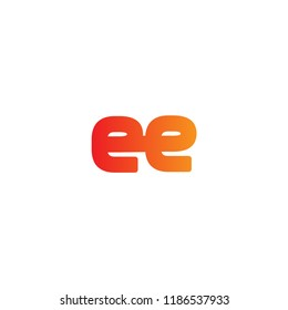 Initial Letter EE Linked Logo in Orange Colored