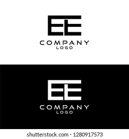 initial letter ee logotype company name design template vector