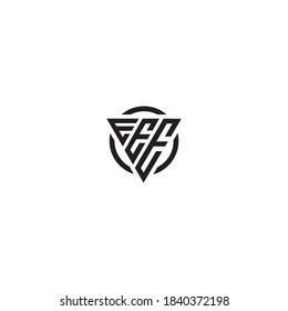 Initial Letter EEE triangle monogram simple strength cool logo
