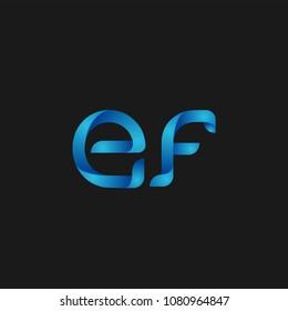 Initial Letter EF Logo Design
