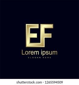 Initial Letter EF Logo Template Vector Design