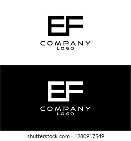 initial letter ef/fe logotype company name design template vector
