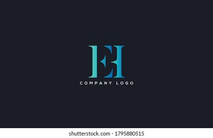 Initial Letter EH or HE Logo Design vector Template. Creative Abstract EH Logo Design Vector Illustration