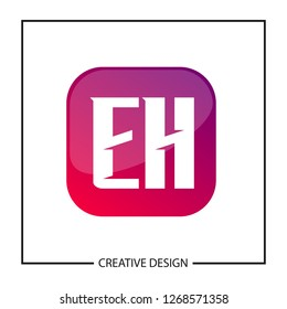 Initial Letter EH Logo Template Design