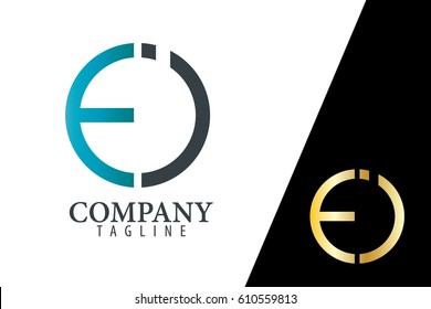 Initial Letter EI FI With Linked Circle Logo