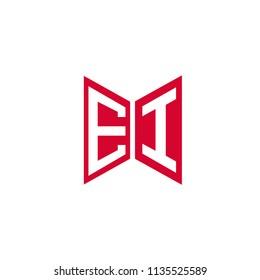 Initial Letter EI Hexagonal Shape Logo Design