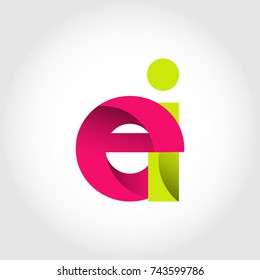 Initial Letter EI Rounded Lowercase Logo. Logo template.