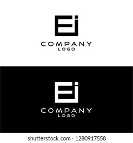 initial letter ei/ie logotype company name design template vector