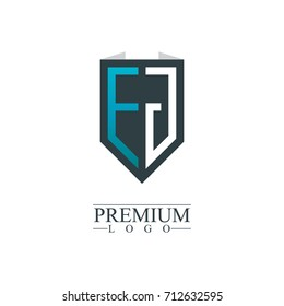 Initial Letter EJ Company Design Logo Template