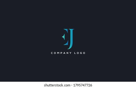 Initial Letter EJ or JE Logo Design vector Template. Creative Abstract EJ Logo Design Vector Illustration