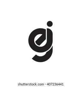 initial letter ej linked circle lowercase monogram logo black
