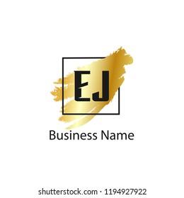 Initial Letter EJ Logo Template Design