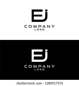 initial letter ej/je/ei/ie logotype company name design template vector