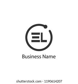 Initial Letter EL Logo Template Design