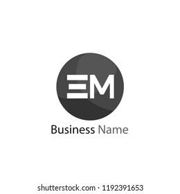 Initial Letter EM Logo Template Design