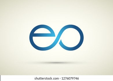 Initial letter eo and oe linked round lowercase logo vector. Internet connection design concept. Technology access all around the world. Infinity tech device innovations.