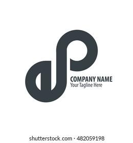 Initial Letter EP Infinite Logo Black