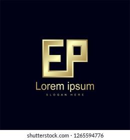 Initial Letter EP Logo Template Vector Design