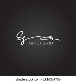 Initial Letter ES Logo - Handwritten Signature Style Logo