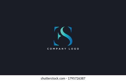 Initial Letter ES or SE Logo Design vector Template. Creative Abstract ES Logo Design Vector Illustration