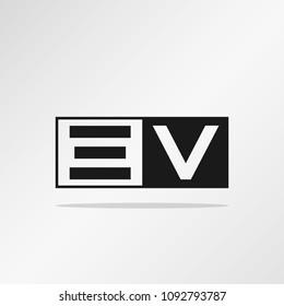 Initial Letter EV Logo Template