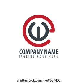Initial Letter EW Design Logo