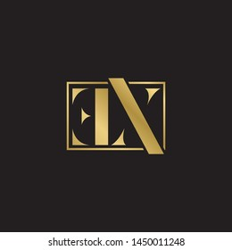 Initial letter ex e x uppercase modern logo design template elements. Gold letter Isolated on black  background. Suitable for business, consulting group company.