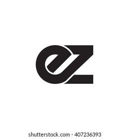 initial letter ez linked circle lowercase monogram logo black