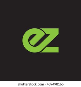 initial letter ez linked round lowercase logo green
