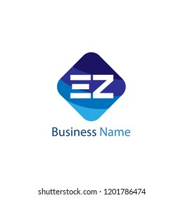 Initial Letter EZ Logo Template Design