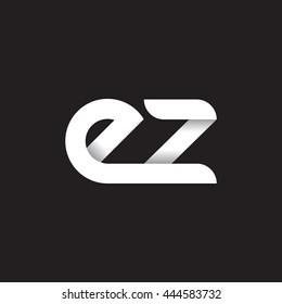 initial letter ez modern linked circle round lowercase logo white black