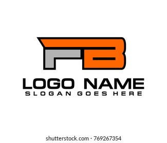 Initial letter F & B logo template vector