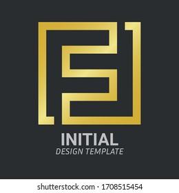 Initial Letter F, FF, F & F Logo Icon Creative Design Template