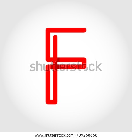 Initial Letter F Rounded Uppercase Logo Stock Vector Royalty Free