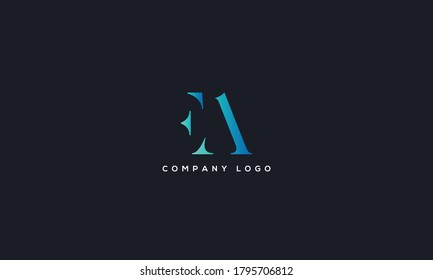 Initial Letter FA or AF Logo Design vector Template. Creative Abstract FA Logo Design Vector Illustration