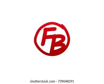 The initial letter FB handwritten logo