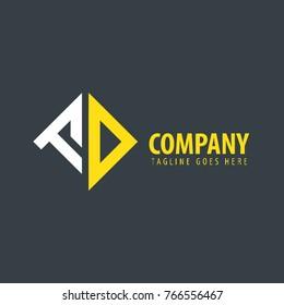 Initial Letter FD Design Logo