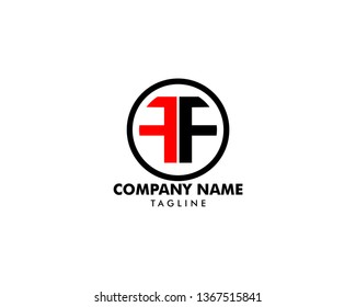 Initial Letter FF Logo Template Design